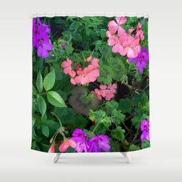 Pink and purple garden Shower Curtain