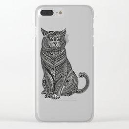 Polynesian British Shorthair cat Clear iPhone Case