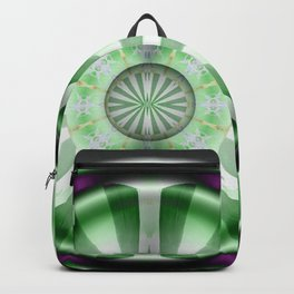 Pinwheel Hubcap in Green Backpack
