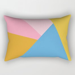 Cute Colorful Diagonal Color Blocking Rectangular Pillow