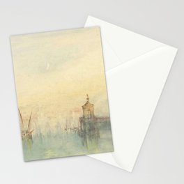 """J.M.W. Turner """"Venice: The New Moon – The Dogana from the steps of The Hotel Europa"""" Stationery Cards"""