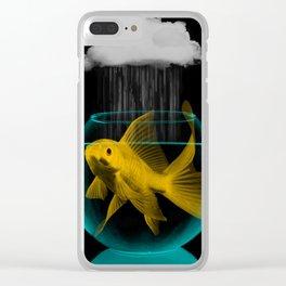 A tight spot in the rain Clear iPhone Case