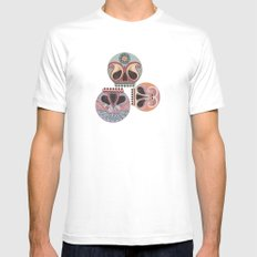 SUGAR SKULL CANDY MEDIUM White Mens Fitted Tee