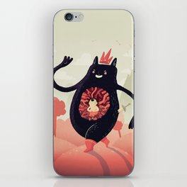 King eats King iPhone Skin