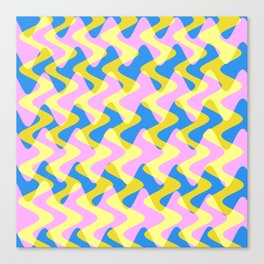 Crosswave Pink - Electron Series 003 Canvas Print