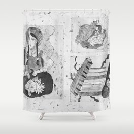Anne of Green Gables Black & White Shower Curtain