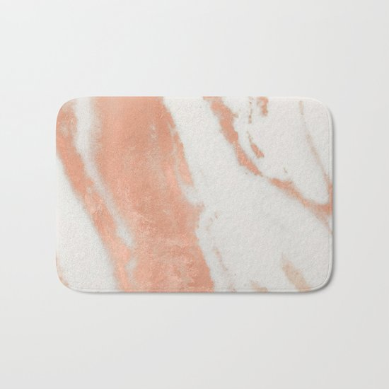 Marble Rose Gold Shimmer Light Bath Mat