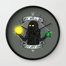 My will is not my own Wall Clock