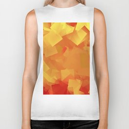 Cubism in orange Biker Tank