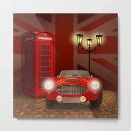 British RED Metal Print