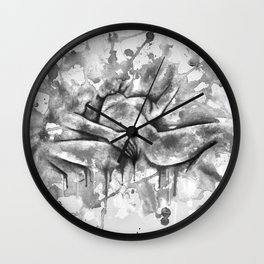 Colorful Climax black&white - Erotic Art Illustration Nude Sex Sexual Love Relationship Mature Wall Clock