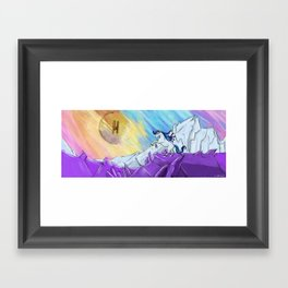 A Wild Pandoracorn in a field of Eridium  Framed Art Print