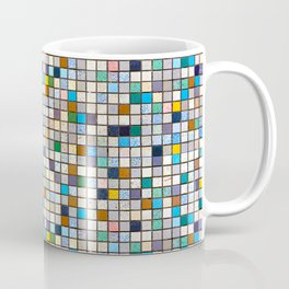 Multicolor Tiles Square Geometric Mosaic Pattern Coffee Mug