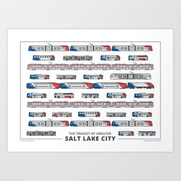 The Transit of Greater Salt Lake City Art Print