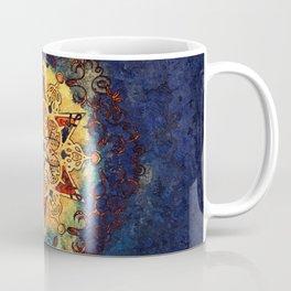 Star Shine in Gold and Blue Coffee Mug