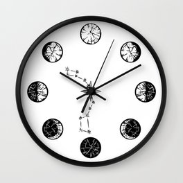 Cut of the Hour Wall Clock