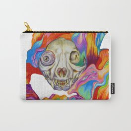 Tripping Cat Skull Carry-All Pouch