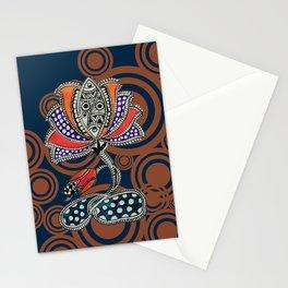 Madhubani - Lotus Fish 2 Stationery Cards