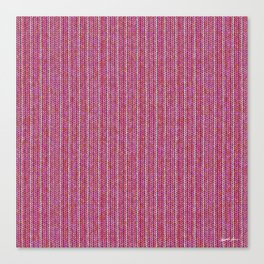 Pink Roses in Anzures 1 Knit 2 Canvas Print