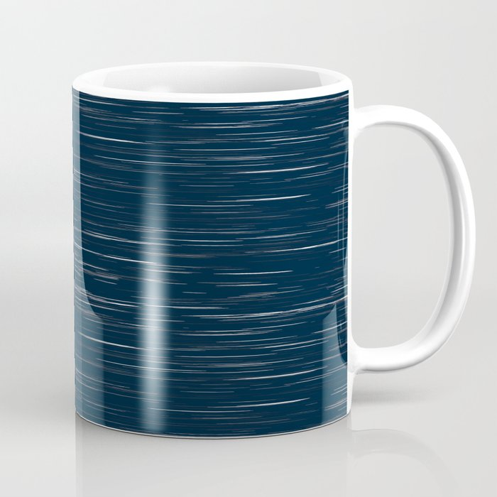 Meteor Stripes - Dark Denim Coffee Mug