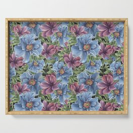 Hibiscus Flowers on Chalkboard Serving Tray
