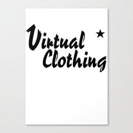 Virtual Clothing Logo T-shirt Canvas Print