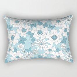 Pale blue floral pattern . Rectangular Pillow
