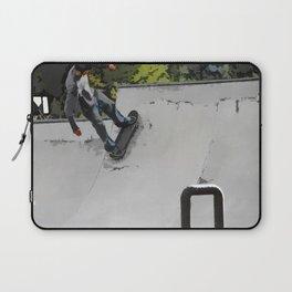 Up the Ramp  - Skateboarder Laptop Sleeve