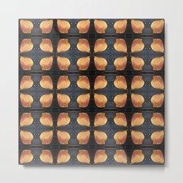 Leaf Pattern with Nailheads Metal Print