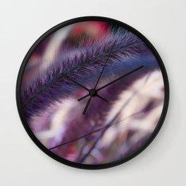 seed stalks of grass Wall Clock