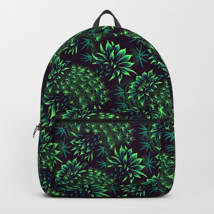 Cactus Floral – Green backpack by Andrea Stark