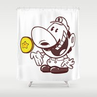 butcher billy Shower Curtains featuring Billy Bros by Solimar Correia