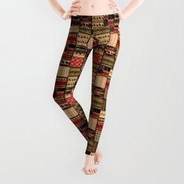 African patchwork. Leggings