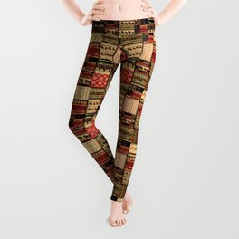 African patchwork. Leggings