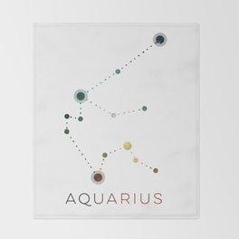 AQUARIUS STAR CONSTELLATION ZODIAC SIGN Throw Blanket
