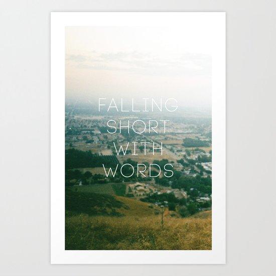 Falling Short Art Print
