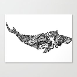 Whale drawing by Floris V Canvas Print