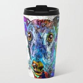 Greyhound Grunge Travel Mug