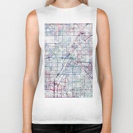 Las Vegas map Biker Tank