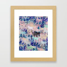 Instinctive Kittens Abstract Framed Art Print
