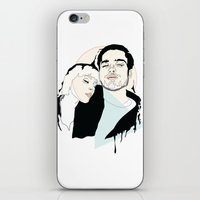 lovers iPhone & iPod Skins featuring Lovers by Anna McKay