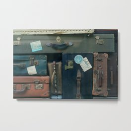 Stack of luggages Metal Print