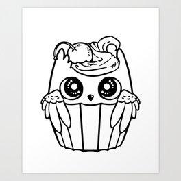 Cute cupcake Art Print
