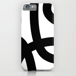 Shadow and Lines iPhone Case