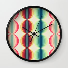 Retro midcentury geometric: Ancient designs for the modern era n°1 Wall Clock