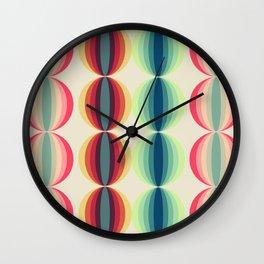 Retro midcentury geometric: Ancient designs for the modern era n°1 Wall Clock