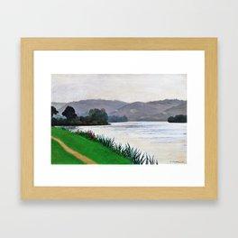Edge Of The Seine At Tournedos - Digital Remastered Edition Framed Art Print