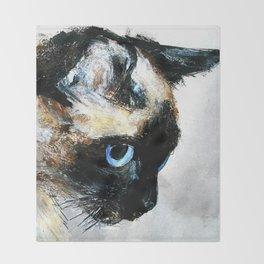 Siamese Cat Throw Blanket