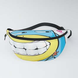 Cartoon character doodle in love Fanny Pack