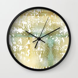 Fractured Gold Wall Clock